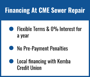 cme pipe lining financing OH plumbing